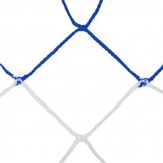 Pair of European 11-a-side football nets bicolor pp braided 4mm single mesh 120 honeycomb Sporti France