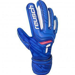 Kid's goalie gloves Reusch Attrakt Grip Evolution Finger Support