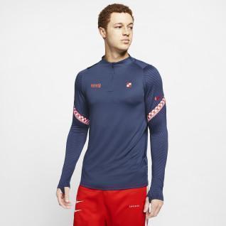 Sweatshirt Croatie Strike 1/4 zip