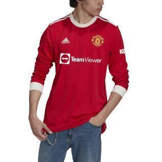 Long sleeve home jersey manchester united 21/22