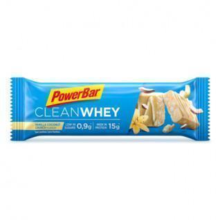 Lot 18 bars PowerBar Clean Whey - Vanilla Coconut Crunch